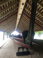 A six ton Maori war canoe
