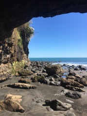 View out from the cave