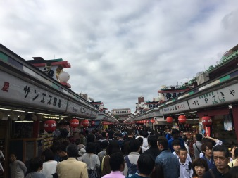 Asakusa street. Very busy and full of market stalls