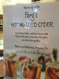 Perks of winter, hot cider and mulled wine galore!
