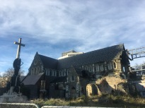 Christchurch Cathedral, devastated by the earthquake in 2014