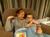 My host mum just sent these next photos to me from the last six months! D likes my glasses