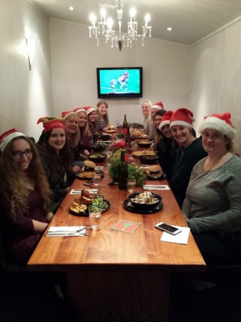 Au Pair Link mid-winter Christmas dinner. I had the best glass of wine of my life here
